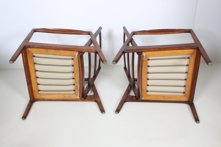 Early Pair of Ole Wanscher Mahogany Lounge Chairs, 1950's 5