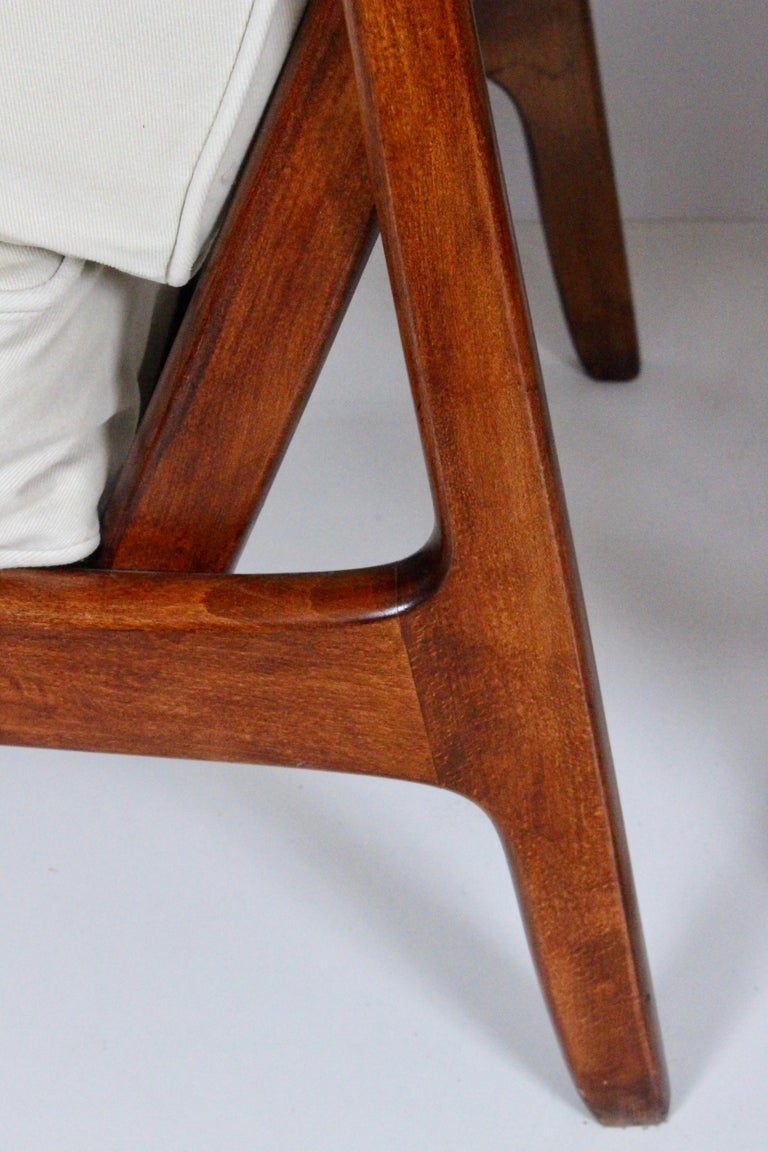 Early Pair of Ole Wanscher Mahogany Lounge Chairs, 1950's 8