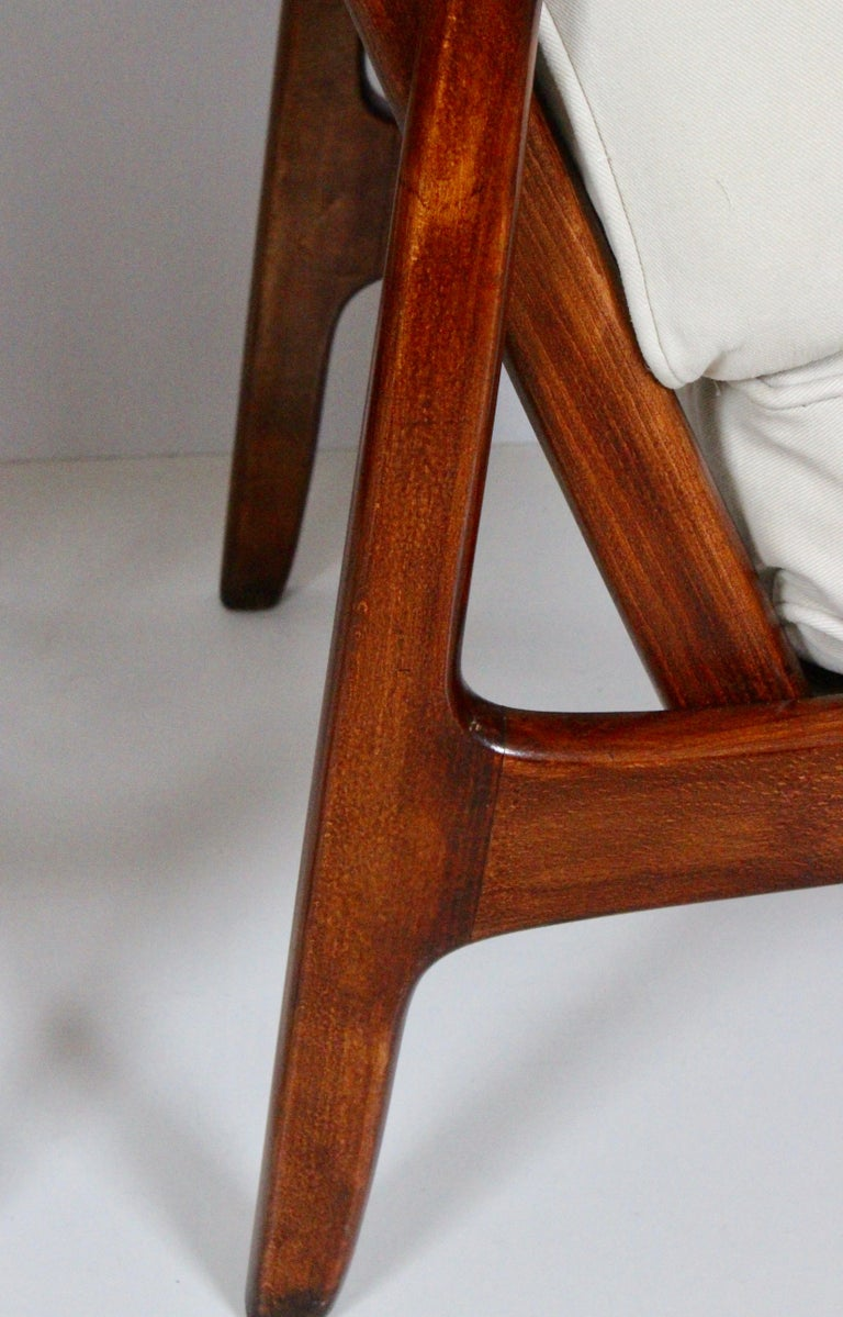 Early Pair of Ole Wanscher Mahogany Lounge Chairs, 1950's 9