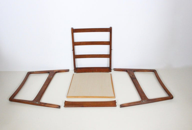 Early Pair of Ole Wanscher Mahogany Lounge Chairs, 1950's 10