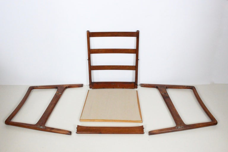 Early Pair of Ole Wanscher Mahogany Lounge Chairs, 1950's 11