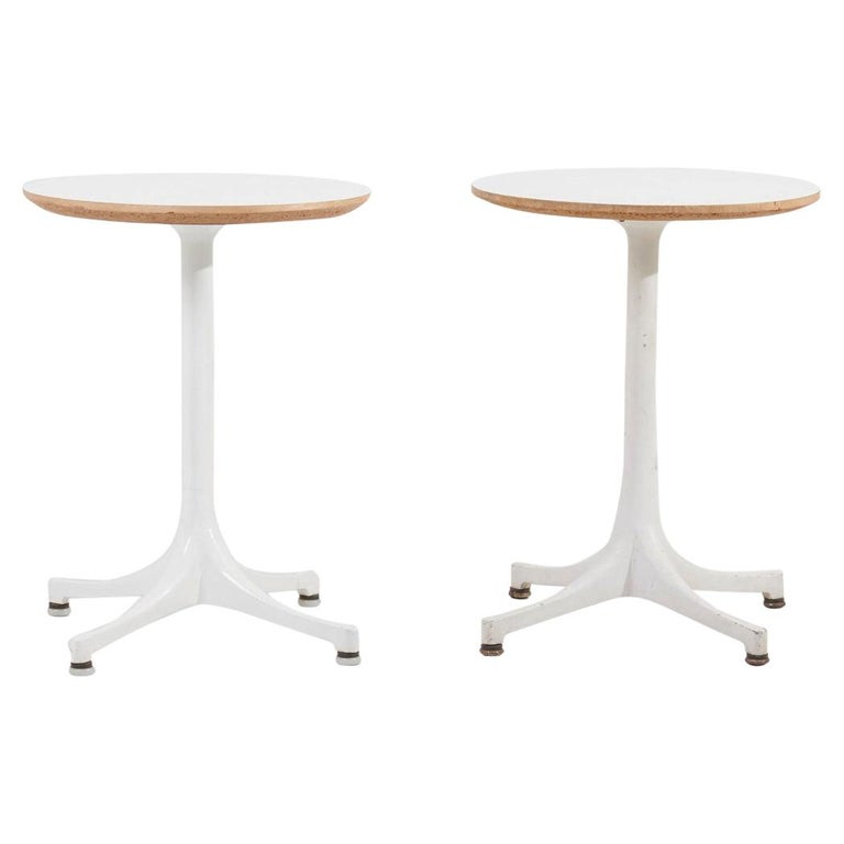 Early Pair of Pedestal Side Tables by George Nelson for Contura / Herman Miller For Sale