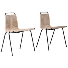 Early Pair of Poul Kjaerholm PK1 Chairs for E. Kold Christensen