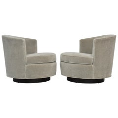 Early Pair of Swivel Chairs by Edward Wormley for Dunbar