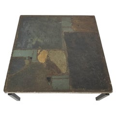 Early Paul Kingma Stone Mosaic Coffee Table, Dutch Design and Art, 1963