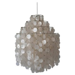 Early Pendant Lamp or Chandelier FUN 0DM by Verner Panton for Lüber CH 1960s