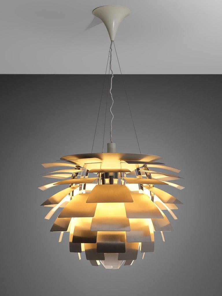 Scandinavian Modern Early 'PH Artichoke' Pendant for Louis Poulsen in Stainless Steel For Sale