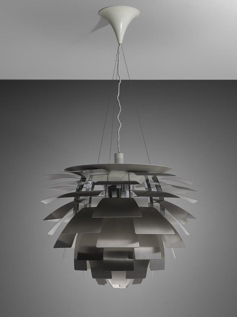 Metal Early 'PH Artichoke' Pendant for Louis Poulsen in Stainless Steel For Sale