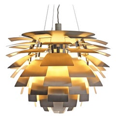 Early 'PH Artichoke' Pendant for Louis Poulsen in Stainless Steel