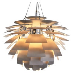 Early 'PH Artichoke' Pendant for Louis Poulsen with Stainless Steel Shades