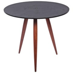 Phillip Lloyd Powell Slate & Walnut Occasional Table, 1960