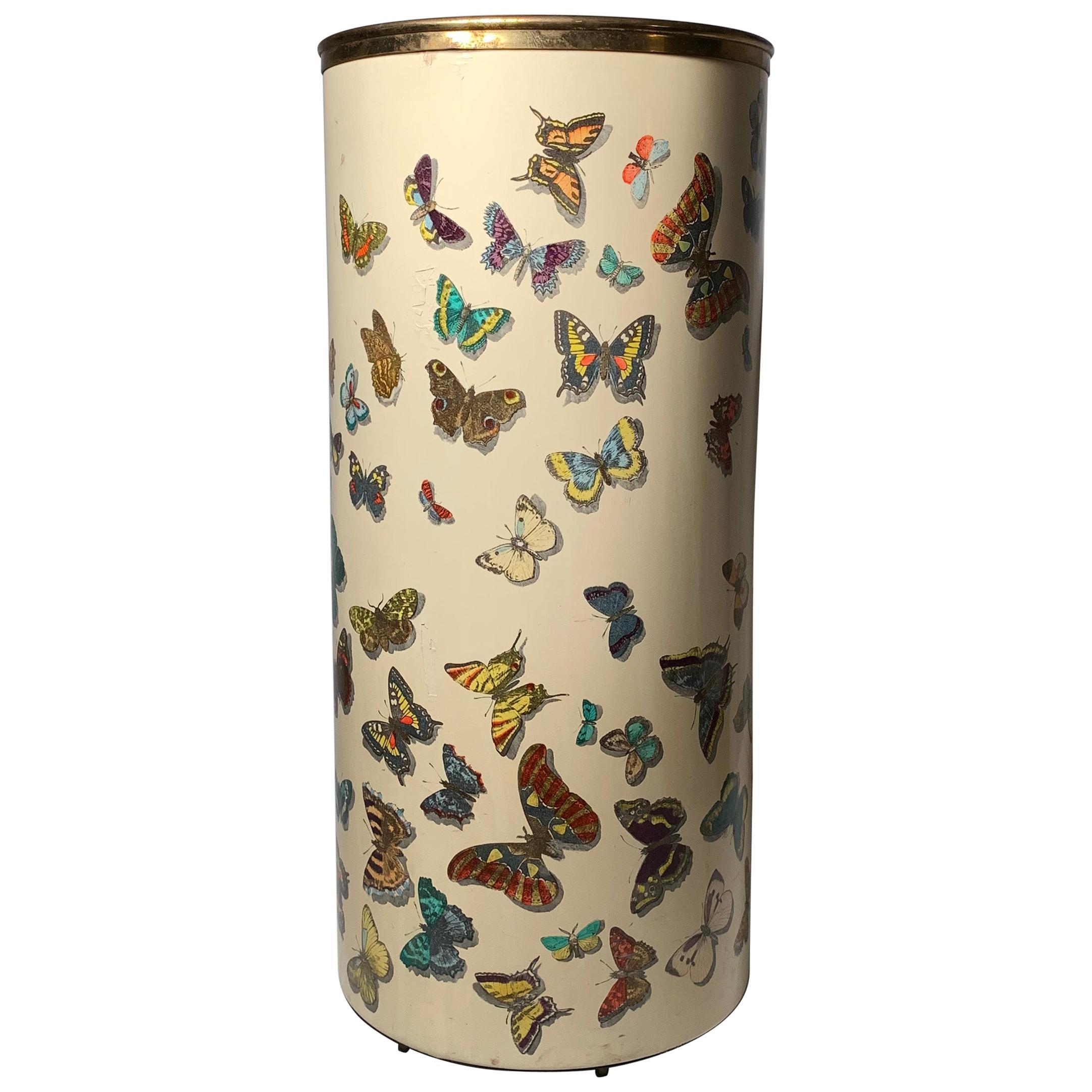 Early Piero Fornasetti Butterflies Farfalle Umbrella Stand