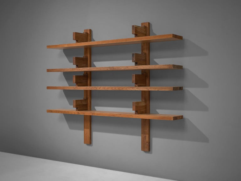 Mid-Century Modern Early Pierre Chapo Version 'B17' Bibliothèque in Solid Elm For Sale