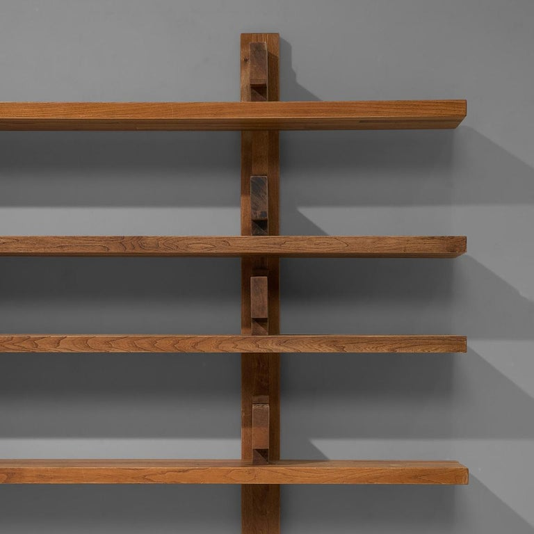 Mid-20th Century Early Pierre Chapo Version 'B17' Bibliothèque in Solid Elm For Sale