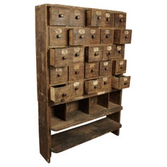 Early Pine Multi Drawer Cabinet from France, circa 1940