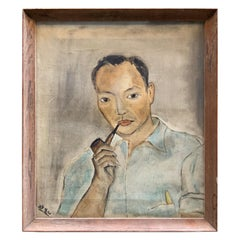 Early Portrait Painting of Yasuo Kuniyoshi