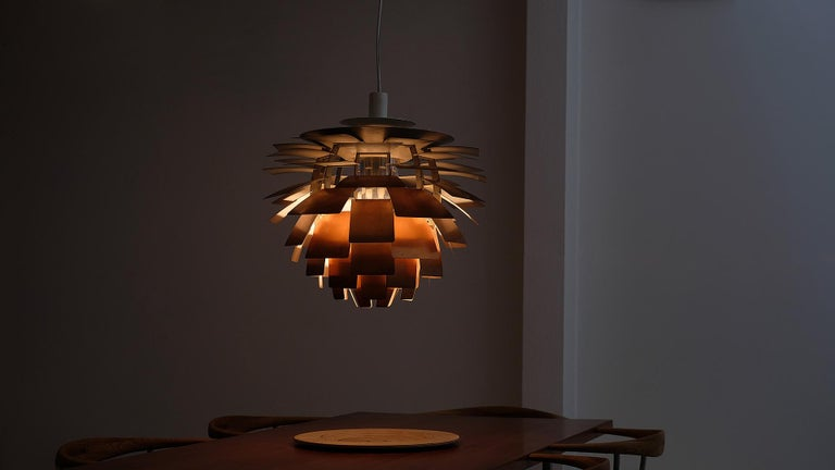 Copper Early Poul Henningsen Artichoke Light For Sale