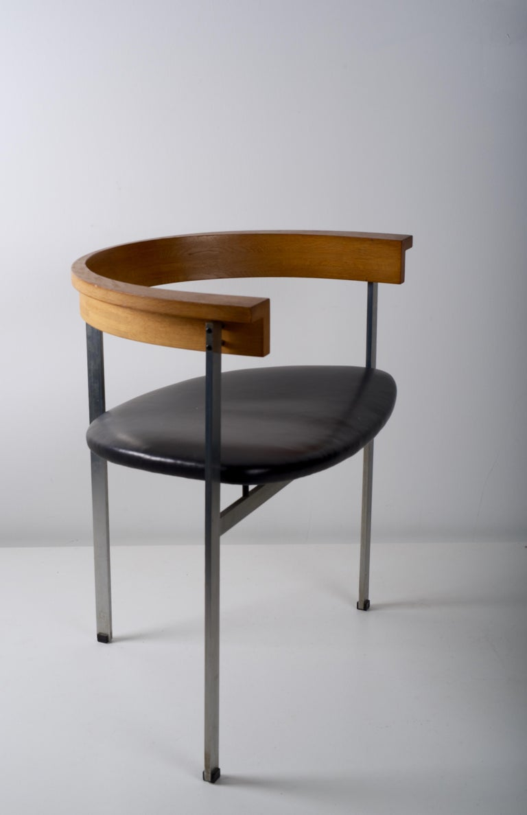 Scandinavian Modern Early Poul Kjaerholm for E. Kold Christensen Chair, PK 11, circa 1957 For Sale