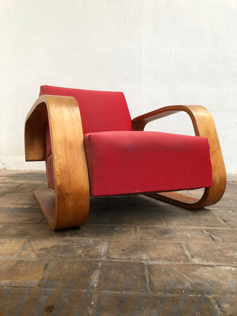 Early Production Armchair 400 Tank Chair Alvar Aalto