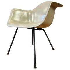 Early Production Charles Eames Fiberglass Shell Armchair for Herman Miller