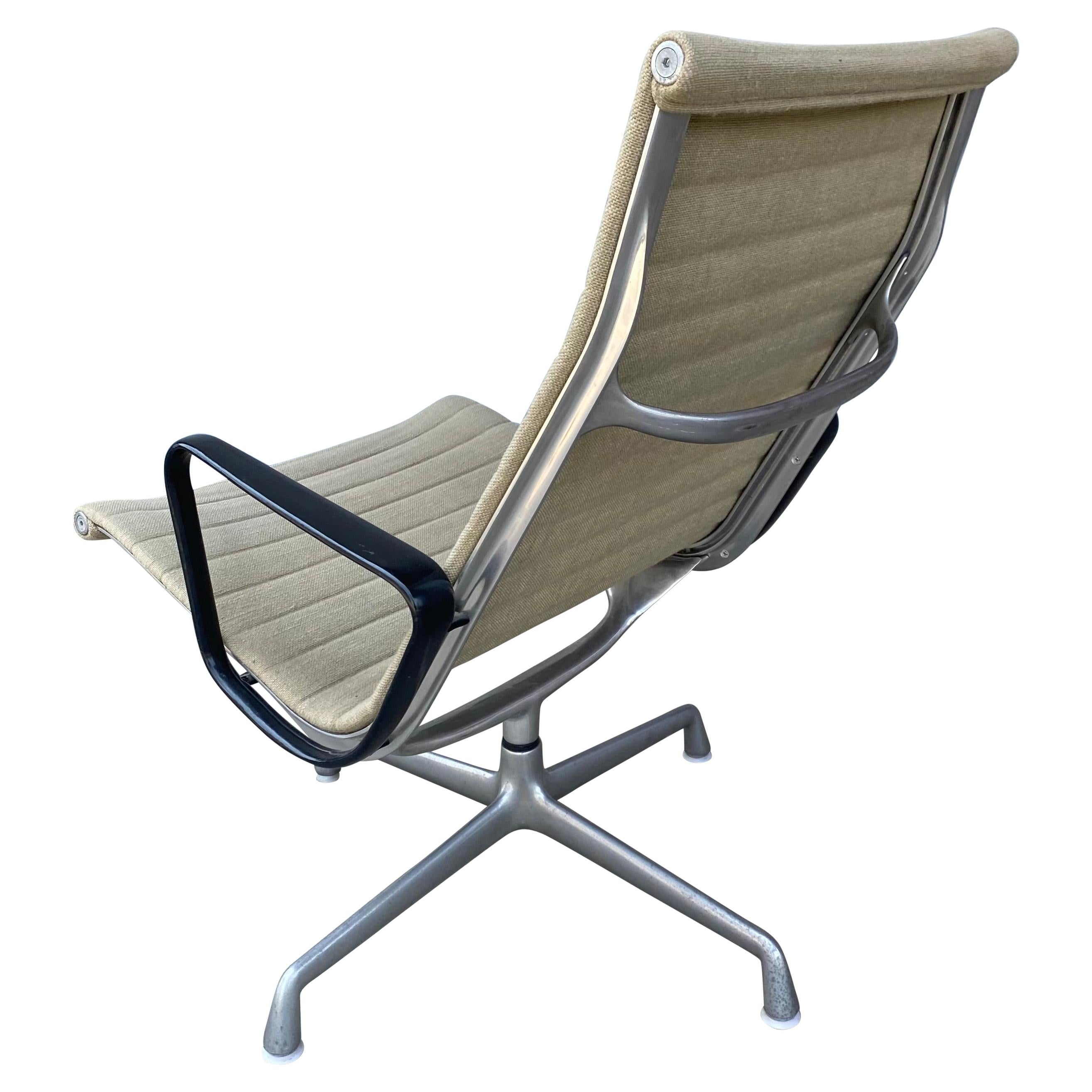 Early Production Eames Aluminum Group Lounge Chair / Herman Miller