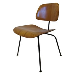 Early Production Eames DCM Molded Wood Side Chairs for Herman Miller