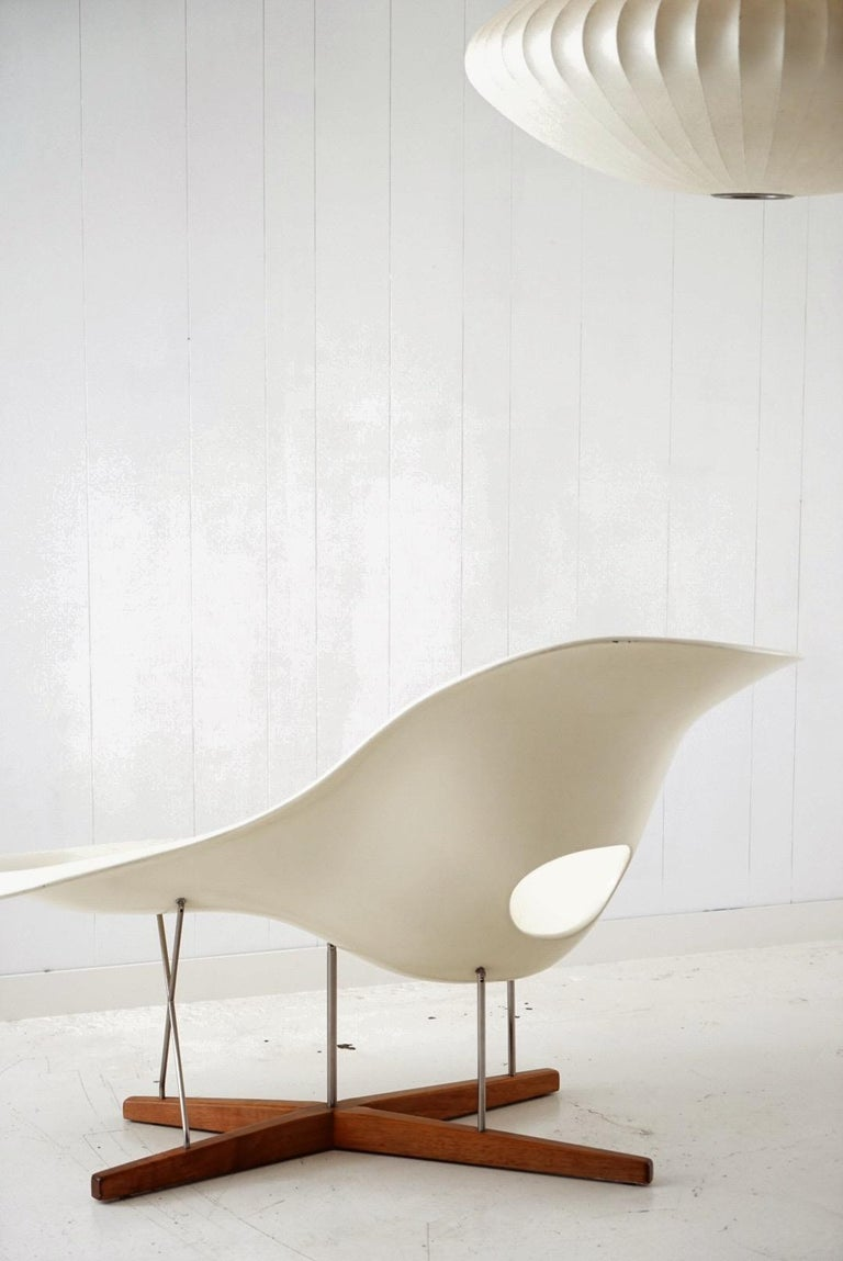 Fiberglass Early Production 'La Chaise' by Charles and Ray Eames for Vitra, circa 1996 For Sale