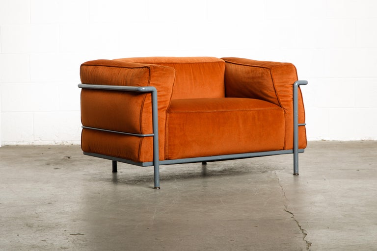 Early Production 'LC3' and 'LC2' Set by Le Corbusier for Cassina, Signed 4