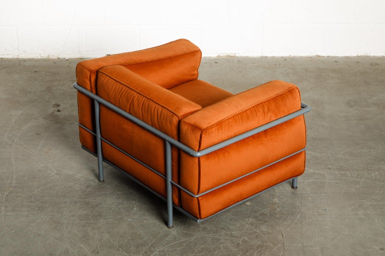 Early Production 'LC3' and 'LC2' Set by Le Corbusier for Cassina, Signed 6