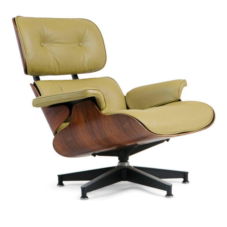 American Early Production Model 670/671 Lounge Chair & Ottoman by Charles & Ray Eames For Sale