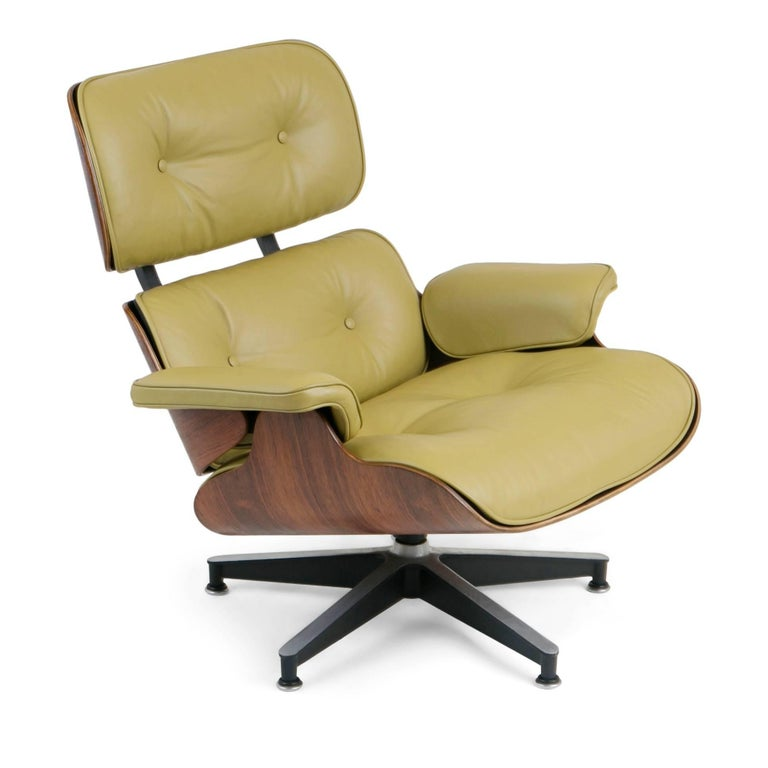 Early Production Model 670/671 Lounge Chair & Ottoman by Charles & Ray Eames In Excellent Condition For Sale In Los Angeles, CA