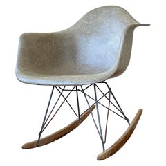 Early Production Original Eames Rocker for Zenith Plastics Rope Edge & Tag