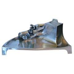 Early Racing Car Sculpture Desk Piece / Inkwell, ca. 1905-1915 Automobilia