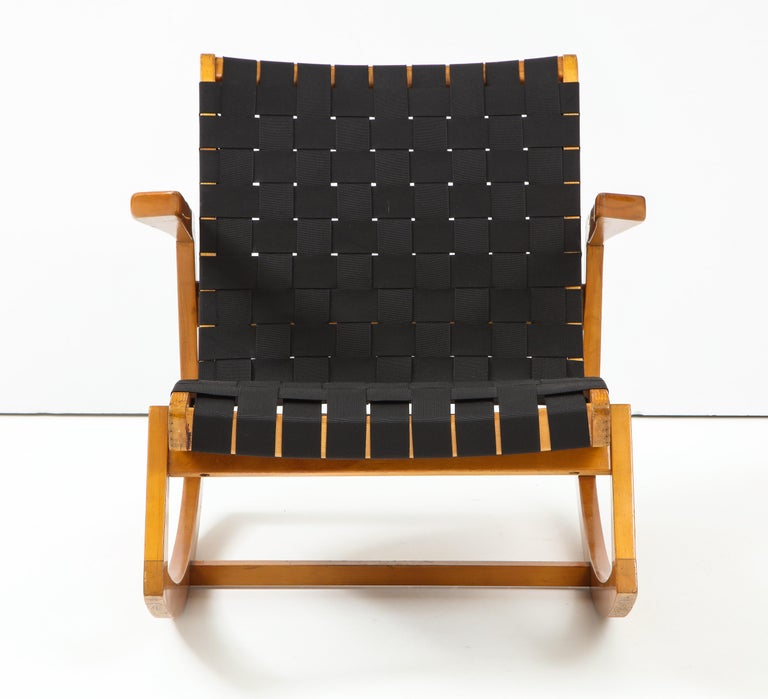 Cotton Early Ralph Rapson Rocker for Knoll For Sale