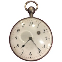 Early Rare Silver Verge Quarter Repeater Geneva Pocket Watch