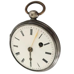 Early Rare Verge Fusee Silver Pocket Watch
