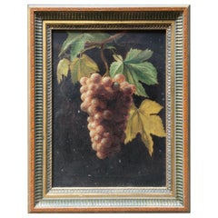 Early Red Grape Cluster Oil on Canvas Painting