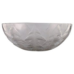 "Early René Lalique, Art Deco ""Pissenlit"" Bowl in Clear Art Glass, 1930s-1940s"