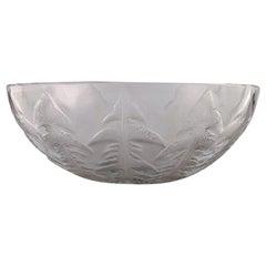"Early René Lalique, Art Deco ""Pissenlit"" Bowl in Clear Art Glass, 1930s-1940s"