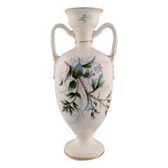 Early Rörstrand Vase in Faience with Floral Motifs, circa 1920