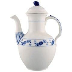 Early Royal Copenhagen Rosebud / Blue Rose Coffee Pot in Hand Painted Porcelain