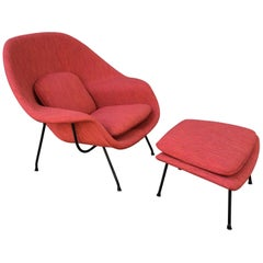 Early Saarinen for Knoll Womb Chair and Ottoman