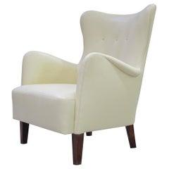 Early Scandinavian Leather Lounge Chair