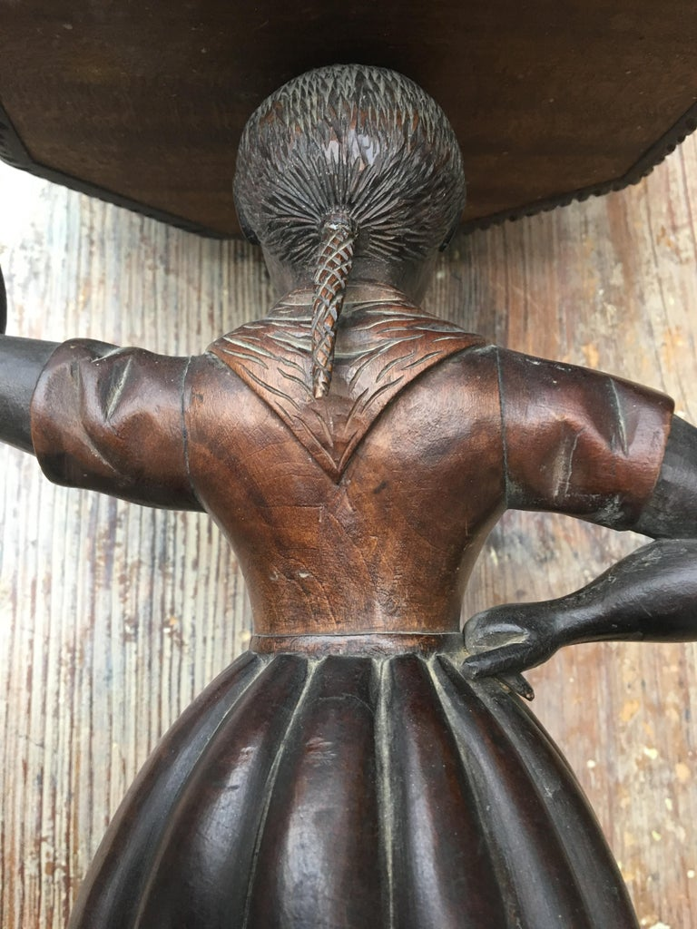 Early Sculpture of Basket-Carrying Blackamoor Sculpture For Sale 5