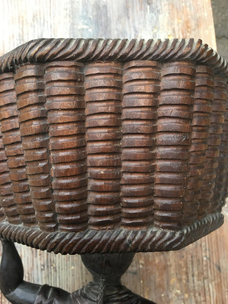 Early Sculpture of Basket-Carrying Blackamoor Sculpture For Sale 8