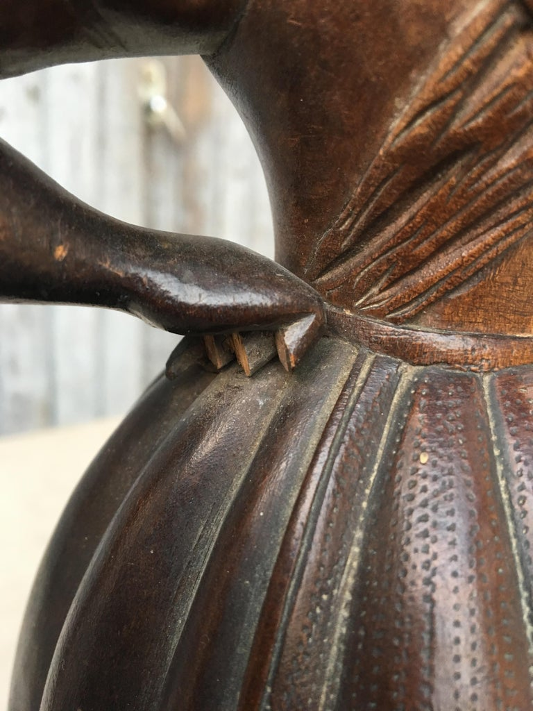 Early Sculpture of Basket-Carrying Blackamoor Sculpture For Sale 1