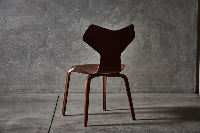 Early Set of Eight Grand Prix Chairs by Arne Jacobsen For Sale 5