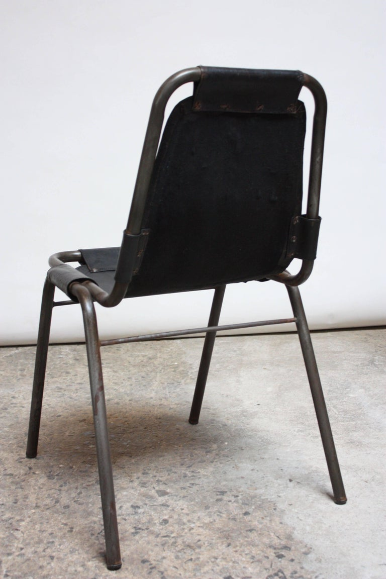 Early Set of Four 'Les Arcs' Chairs by Charlotte Perriand For Sale 3