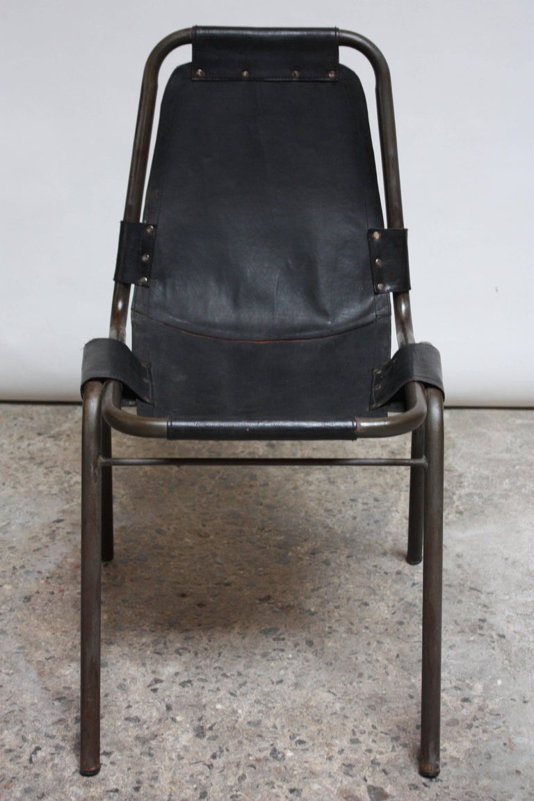 Early Set of Four 'Les Arcs' Chairs by Charlotte Perriand For Sale 2