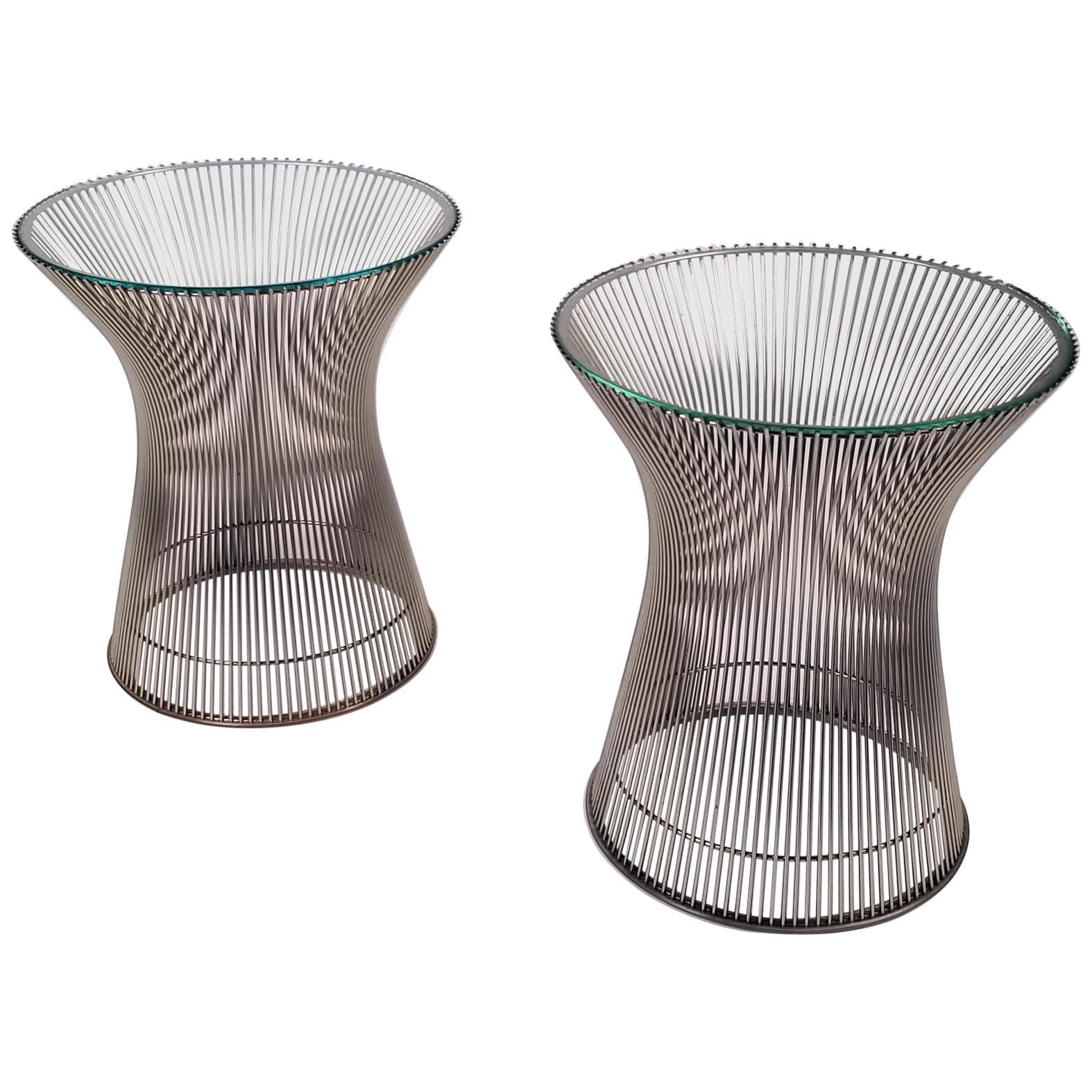 Early Side Tables Designed by Warren Platner for Knoll